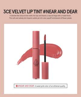INSTOCK 3CE Velvet Lip Tint (NEAR AND DEAR)
