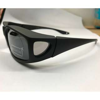 Sunglass with Side Panels - Counter Blind Spots