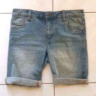 Denim Faded Shorts Skinny Fit