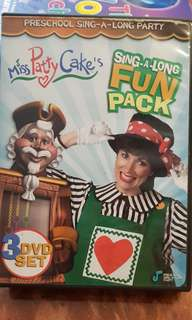 Miss Patty Cake's Sing-A-Long Fun Pack 3 DVD Set