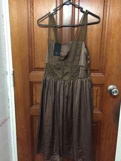 Brown Chiffon Evening Dress