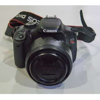 Canon 600D/Rebel T3i + Sigma 30mm F1.4 lens