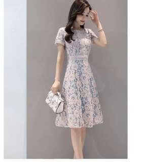 🚚 大碼蕾絲連身裙 連身洋裝 XL