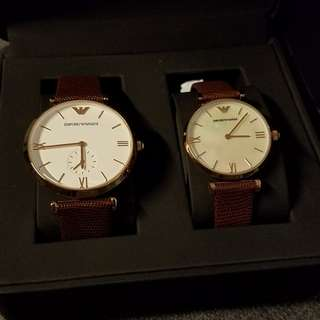 Brand new genuine Emporio Armani couples watch