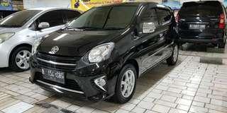 Toyota Agya 2014 hitam type G matic masih cantik dan apik
