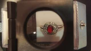 SHINE JEWELLERY 925 SILVER 紅水鑽