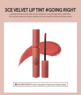 INSTOCK 3CE Velvet Lip Tint (GOING RIGHT)