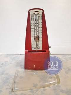 Vintage NIKKO PRESTISSIMO Mechanical Metronome Red Made in Japan