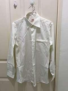 Men's Long Sleeve White Shirt