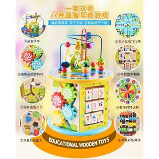Wooden educational set