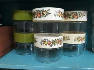 vintage Pyrex Spice of Life Canisters