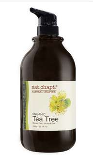 Nat Chapt Organic Tea tree Shower Gel