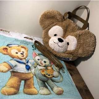 🚚 Duffy達菲絨毛大頭3way包-東京迪士尼海洋樂園