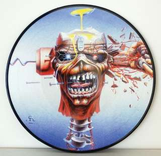 USED Iron Maiden Seventh Son Of A Seventh Son LIMITED EDITION VINYL RECORD PICTURE DISC