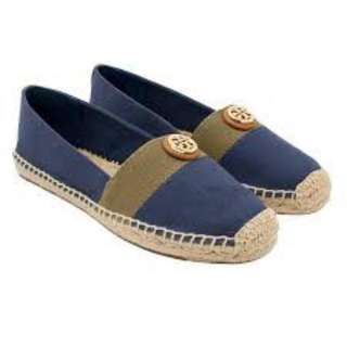 TORY BURCH Beacher Espadrille Canvas Leather