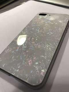 象牙白玻璃手機殼💗for iphone7plus & 8plus