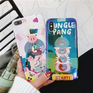 iPhone Case 7/8/X 熊大鏡面電話殼 手機殼
