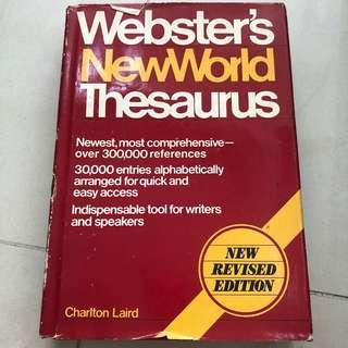 Webster NewWorld Thesaurus - Charltorn Laird - Kamus Revised