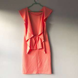 Miss Selfridge peach dress