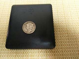 USA Liberty Silver Coin 1 Demi (1945)
