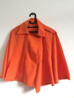 Orange Cape Blazer free size