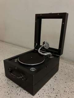 Vintage vinyl turntable (about 100 years old)
