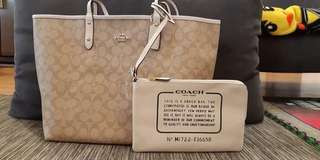 Coach Reversible Tote Bag (no zipper)