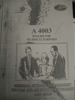 English fot Technical Purposes Notes