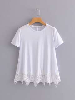 🔥2018 Stitching Lace White Shirt