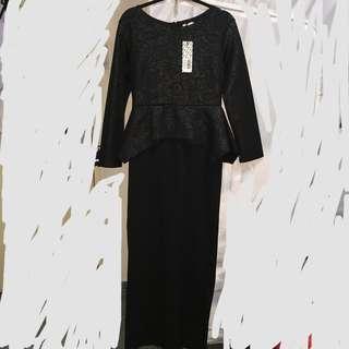 Zalia Embossed Peplum Top Dress