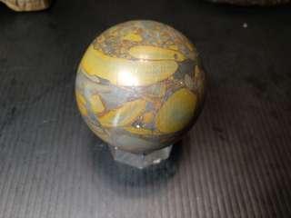 🚚 #22 天然女媧石球50mm(常握增加氣場)俗俗賣$200 送壓克力座