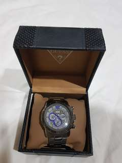 GUESS BLACK STAINLESS WATCH