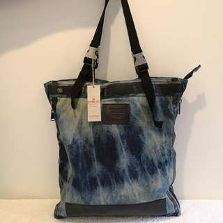 Authentic Replay Large Denim Bag - New with Tag