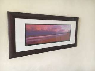 Large framed photo of n. beaches Australia