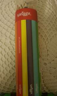 SALE SMIGGLE COLORED PENCILS with Sharpener