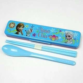 Frozen 魔雪奇緣 餐具盒 筷子連匙羹
