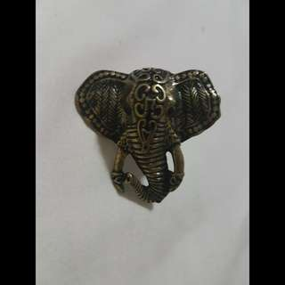 Elephant statement ring