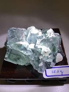 Rare Green Blue Cube Fluorite