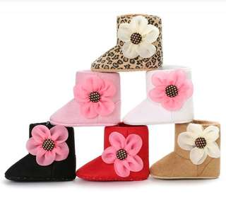 Baby boots - Leopard print (6-12 months)