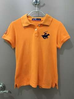 AUTHENTIC Orange Beverly Hills Polo Club Polo T-Shirt