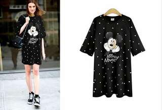 polka dots mickey mouse dress