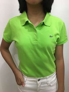 AUTHENTIC Lime Green Lacoste Polo T-Shirt