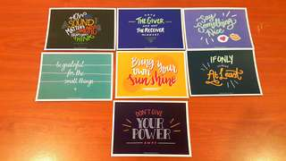 Inspirational Cards. M size