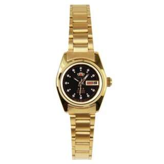 ORIENT SNQ0A020B8 NQ0A020B AUTOMATIC LADIES CRYSTAL GOLD WATCH