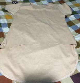 Light Brown Longback Top