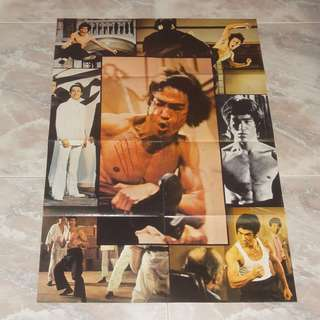 Bruce Lee Kung Fu Poster Magazine 70's 李小龍 UK Enter The Dragon Fist Of Fury