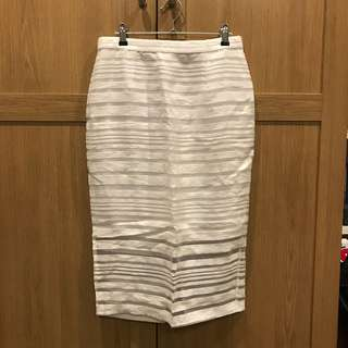 White Bardot Skirt Size 12 Brand New Without Tags