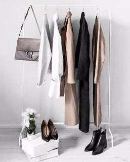 IKEA MULIG Rak pakaian, putih