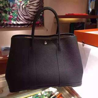 全新現貨HERMES GARDEN PARTY 36 Togo皮(銀釦/黑色) hkd 26800