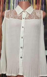 White Chiffon Top